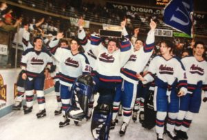 The 1996 Division II national champions. (Photo by UAH Athletics)